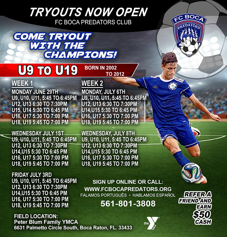 Tryout 2020 FCBoca Predators
